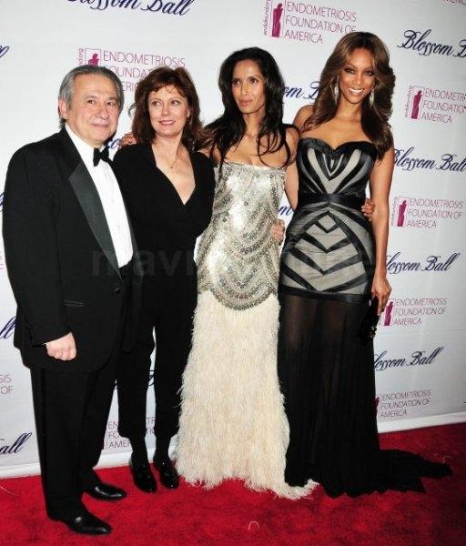 Tamer Seckin, Susan Sarandon, Padma Lakshmi and Tyra Banks