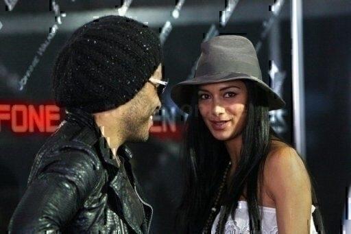 Lenny Kravitz and Nicole Scherzinger