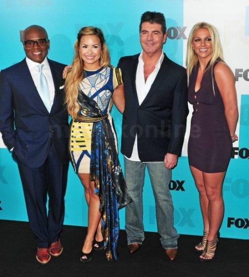 LA Reid, Demi Lovator, Simon Cowell and Britney Spears