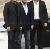 John Travolta, Director Oliver Stone and Benicio Del Toro