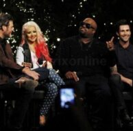 Adam Levine Christina Aguilera Blake Shelton Cee Lo Green