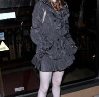 Rose McGowan Black Dress