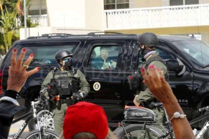 Trump Palm Beach Motorcade